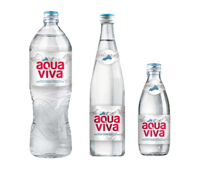 AQUA VIVA IN NEW GLASS PACKAGING
