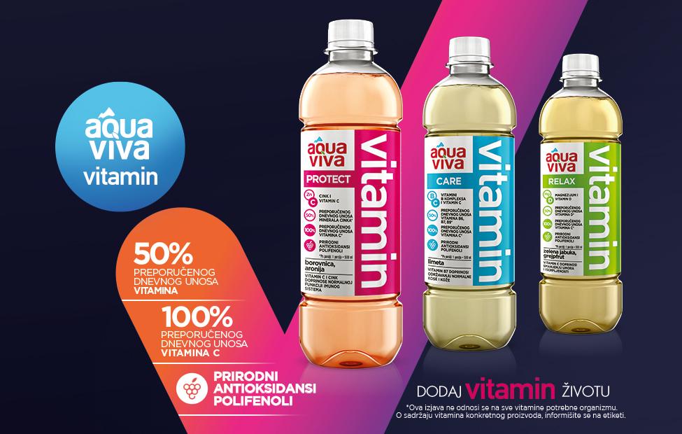 Aqua Viva VITAMIN – naš portfolio bogatiji je za kategoriju vitaminskih, funkcionalnih voda