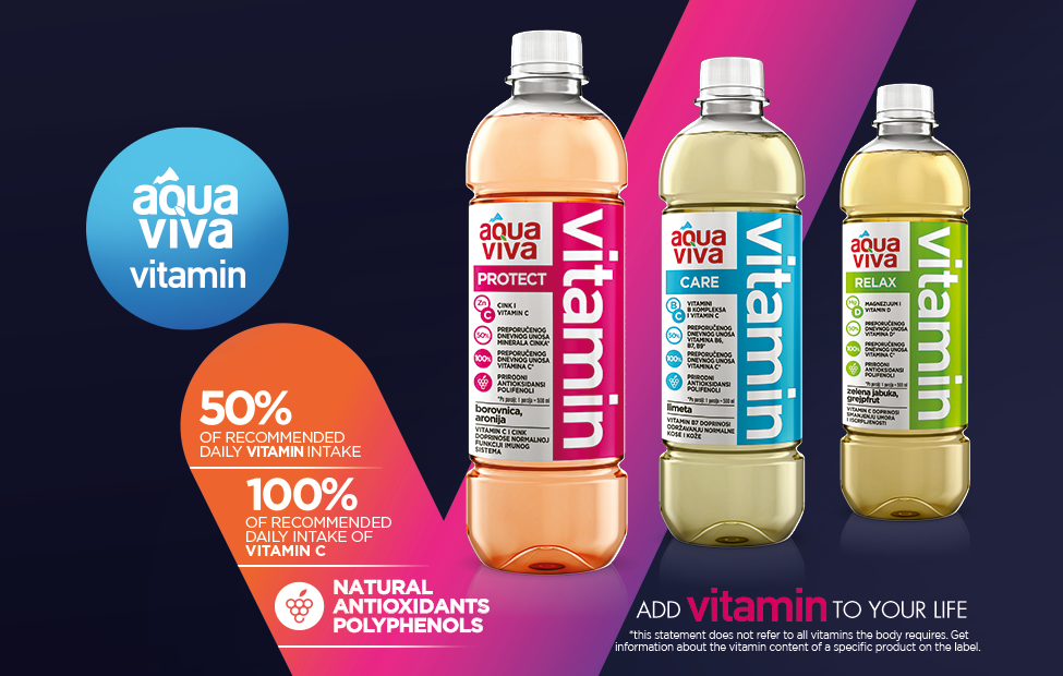 Aqua Viva VITAMIN – our portfolio is enriched for the category of vitamin, functional waters