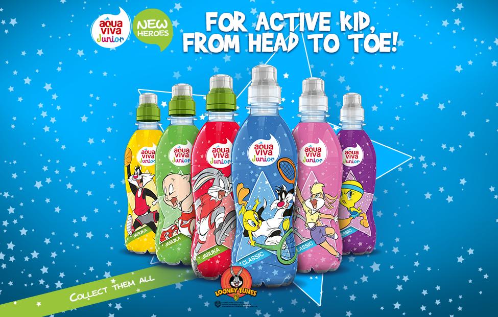 Aqua Viva Junior with even more fun, redesigned labels.