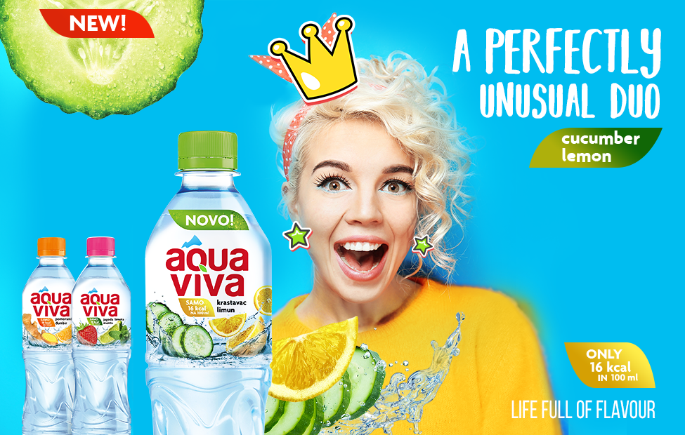 A perfectly unusual duo – water with CUCUMBER/LEMON FLAVOUR